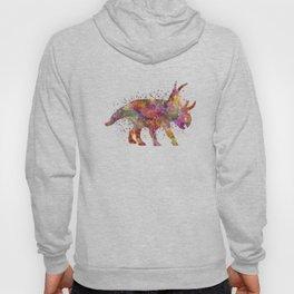 Diabloceratops dinosaur in watercolor Hoody