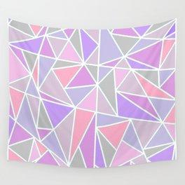 Pastel Shards Geometric Pattern Wall Tapestry