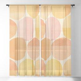 Mid Century Dots Sheer Curtain
