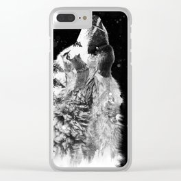 Wolf Howl Clear iPhone Case