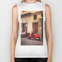 Italy-Vintage Vespa Photo Biker Tank