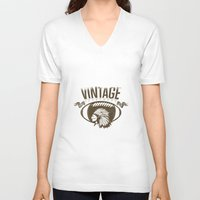sports V-neck T-shirts featuring Vintage sports by Tshirt-Factory