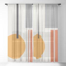 Mid Century 05 Sheer Curtain