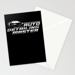 Auto Detailing MasterCar Painter Stationery Cards