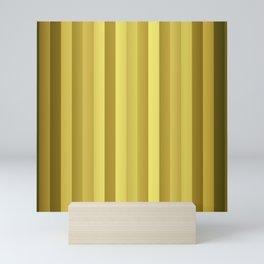 Large Rose Gold and Copper Stripes Mini Art Print