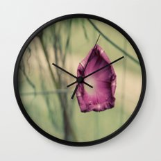 Curling in Purple Wall Clock