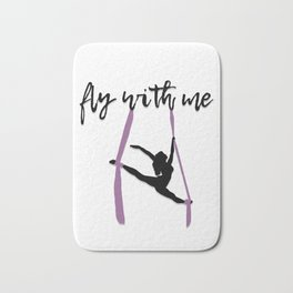 """""""Fly with Me"""" Aerialist Bath Mat"""