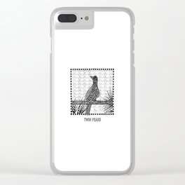 Twin Peaks - Opening Credits Bird Clear iPhone Case