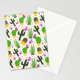 Cactus Pattern of Succulents Stationery Cards