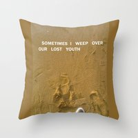 sand Throw Pillows featuring sand by gasponce