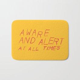 aware and alert Bath Mat