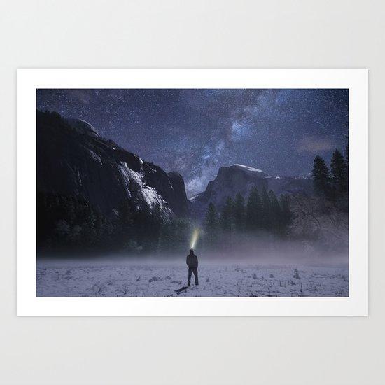 Star Gazer Midnight Art Print