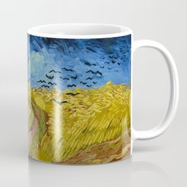 Wheatfield with Crows by Vincent van Gogh (1890) Coffee Mug