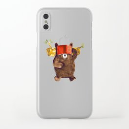No Care Bear - My Sleepy Pet Clear iPhone Case
