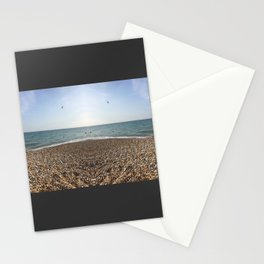 Mirrored beach photo Stationery Cards
