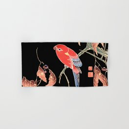 Red Parrot A Hand & Bath Towel