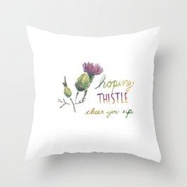 thistle be good Throw Pillow