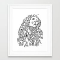 marley Framed Art Prints featuring Marley by Ron Goswami