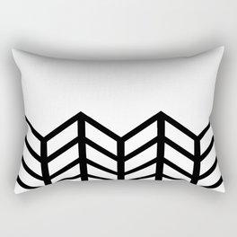 BLACK & WHITE LACE CHEVRON Rectangular Pillow