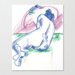 The sunbather Canvas Print