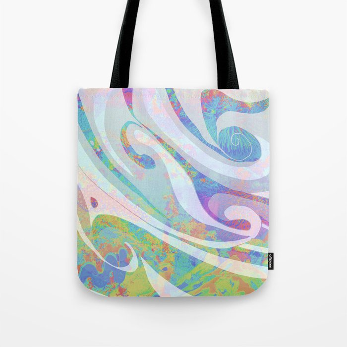 Abstract Colors Waves Design Tote Bag