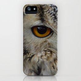 Eurasian eagle-owl, wild bird iPhone Case