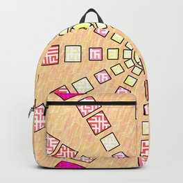 Ethnic wheel in pink Backpack