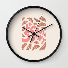 Le Croissant French Wall Clock