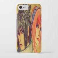 sasuke iPhone & iPod Cases featuring Uchiha Sasuke & Haruno Sakura  by Aileen