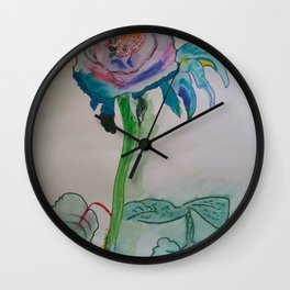 Flower rainbow inspiration modern paintings by Christian T. Wall Clock