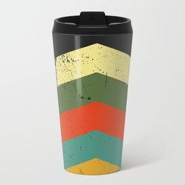 Grunge chevron Travel Mug