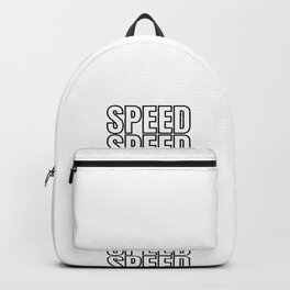 Speed Speed Tuning Car Gift Backpack