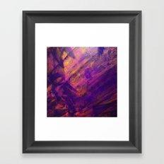 Purple and Orange Stripes Framed Art Print