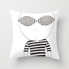 hypnotic child Throw Pillow