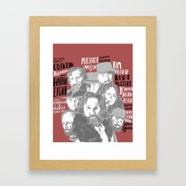 Eight Strangers One Deadly connection Framed Art Print