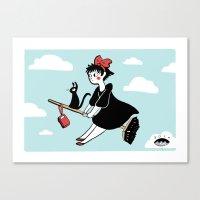 kiki Canvas Prints featuring Kiki by seaeyedraw