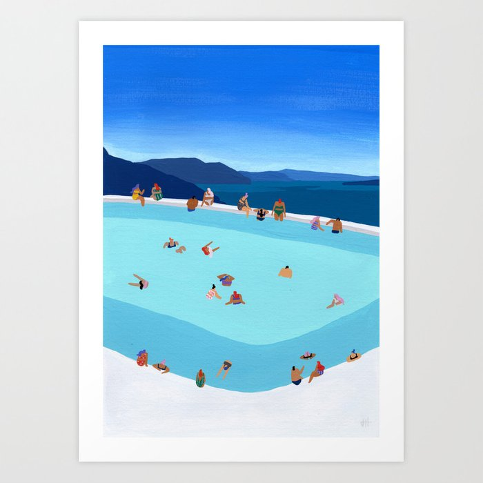 Santorini Summer Kunstdrucke