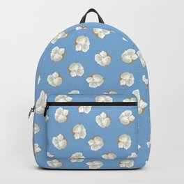Cotton Blossom Toss in Carolina Blue Backpack