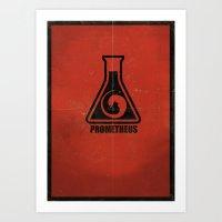 prometheus Art Prints featuring Prometheus by DamienWake