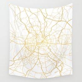 BERLIN GERMANY CITY STREET MAP ART Wall Tapestry