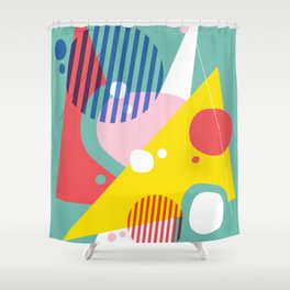 Abstract Pop II Shower Curtain
