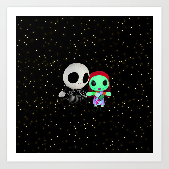 Halloween Babies   Jack   Sally   Christmas   Nightmare Art Print