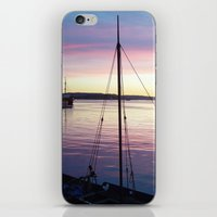 oslo iPhone & iPod Skins featuring Sunset Oslo by Samantha Snyder