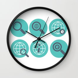 Let Us Search The Internet Wall Clock