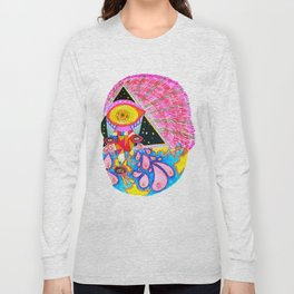 Psychedelic Wrestler Long Sleeve T-shirt