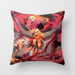 Harpies Throw Pillow