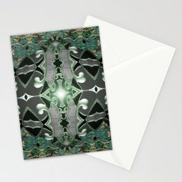 Emerald Rococo Metallic Gothic Mandala Stationery Cards