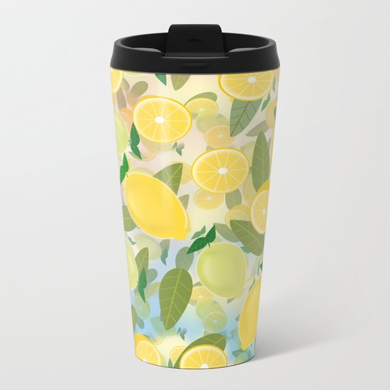 Lemon Song Metal Travel Mug