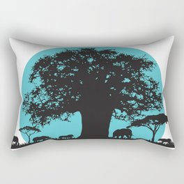 African Turquoise Safari Rectangular Pillow