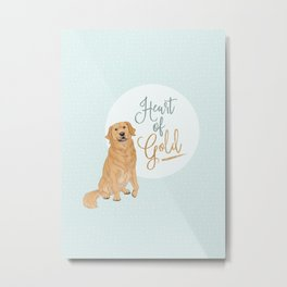 Heart of Gold // Golden Retriever Metal Print